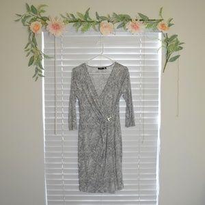 Apt 9 – Grey Wrap Dress